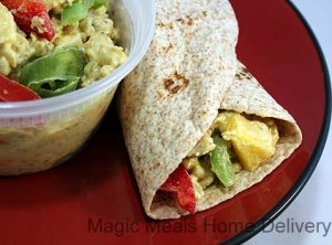 8. Curry Chicken and Mango Wrap