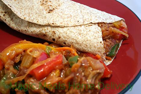 8. Barbeque Turkey & Cabbage Wrap