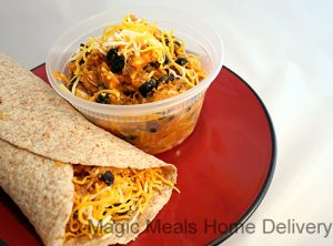 8. Chicken, Sweet Potato & Black Bean Burrito