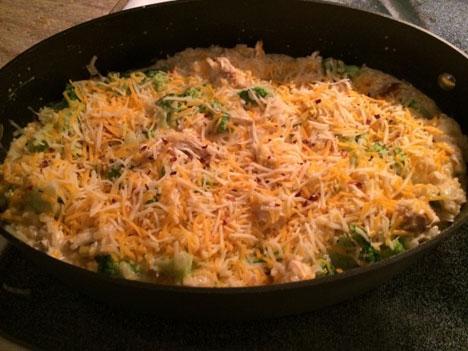 9.Cheesy Chicken Broccoli and Rice Casserole
