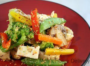 1. Rosemary Garlic Chicken Stir-Fry