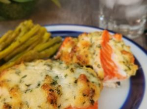9.	Baked Salmon with Parmesan and Parsley